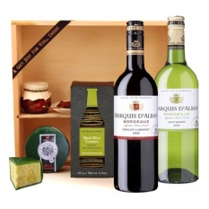 Hampers and Gifts to the UK - Send the Wine Duo with Cheese and Oatcakes