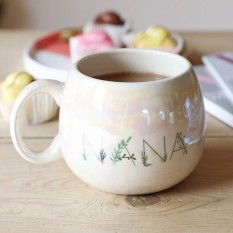 Hampers and Gifts to the UK - Send the Iridescent Floral 'Nana' Mug