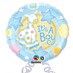 "Hampers and Gifts to the UK - Send the It's a Boy 18"" Foil Balloon"