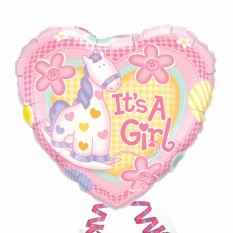 "Hampers and Gifts to the UK - Send the It's a Girl 18"" Foil Balloon"
