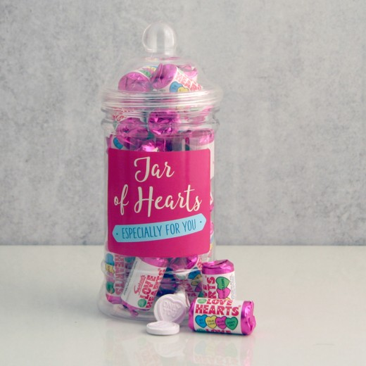 Hampers and Gifts to the UK - Send the Jar of Hearts Sweet Gift