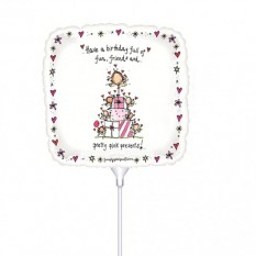 Hampers and Gifts to the UK - Send the Pretty Pink Presents Mini Balloon