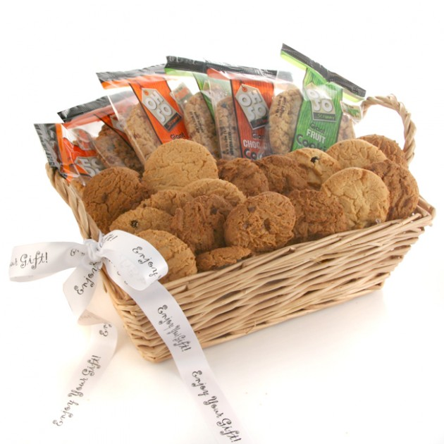 Hampers and Gifts to the UK - Send the A Basket of Just Cookies