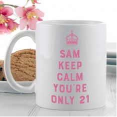 Hampers and Gifts to the UK - Send the Birthday Keep Calm Carry On Gift Mug