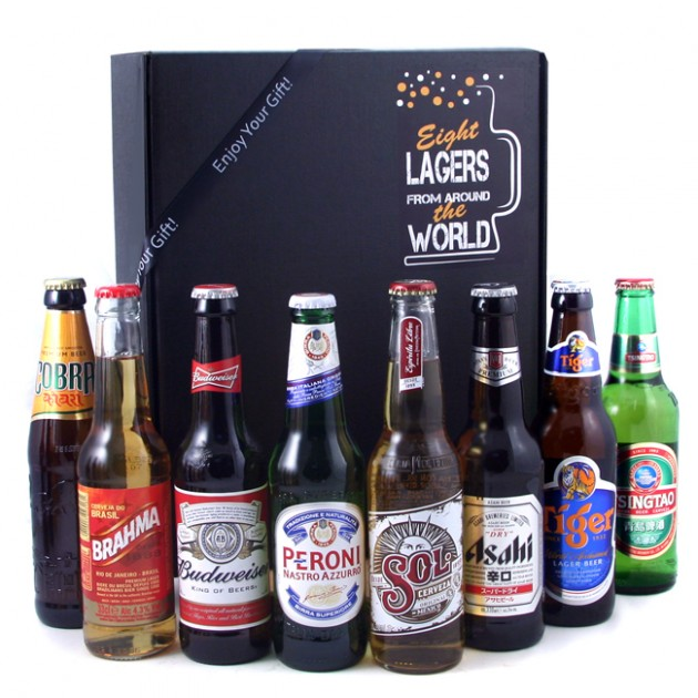 Hampers and Gifts to the UK - Send the 8 Lagers of the World Gift Box