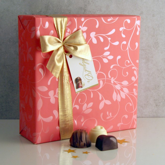 Hampers and Gifts to the UK - Send the Gift Wrapped Chocolate Box - Large