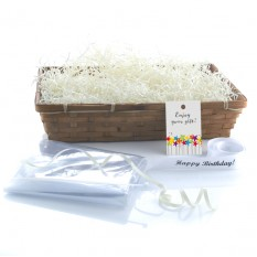 Hampers and Gifts to the UK - Send the Wicker Basket - Bamboo Large