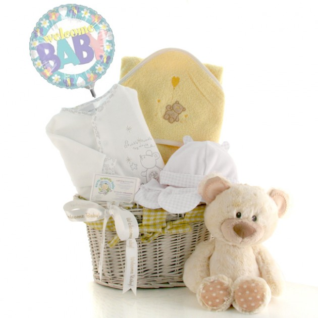 Hampers and Gifts to the UK - Send the My Polka Dot Bear Baby Gift Basket