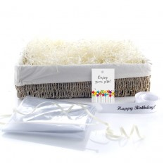 Hampers and Gifts to the UK - Send the Wicker Basket - Lined Seagrass Large
