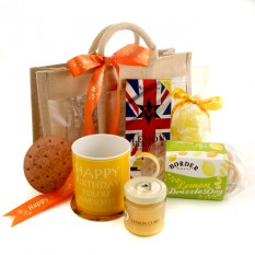 Hampers and Gifts to the UK - Send the Happy Birthday Lemon Delight