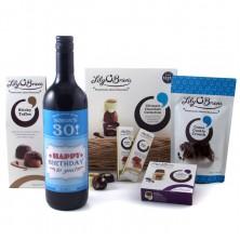 Personalised Birthday Wine and Chocolate Hamper