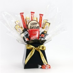 Hampers and Gifts to the UK - Send the Lindor & Ferror Rocher Chocolate Birthday Bouquet