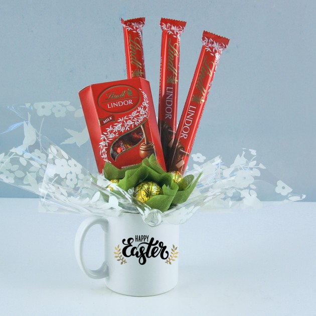 Hampers and Gifts to the UK - Send the Happy Easter Mug with Lindor Truffles