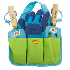 Hampers and Gifts to the UK - Send the Personalised Children's Garden Tool Kit Blue
