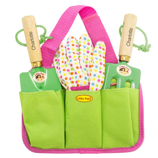 Hampers and Gifts to the UK - Send the Personalised Children's Garden Tool Kit Girl