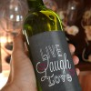 Hampers and Gifts to the UK - Send the Live Laugh Love Wine Bottle