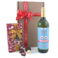 Valentine's Love Birds Wine Gift Personalised