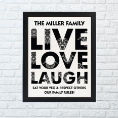 Hampers and Gifts to the UK - Send the Live Love Laugh Framed Print