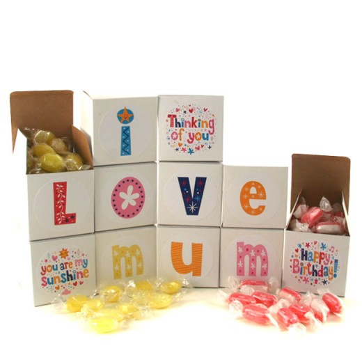 Hampers and Gifts to the UK - Send the I Love Mum Sweet Words