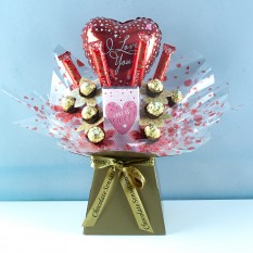 Hampers and Gifts to the UK - Send the Love Is Sweet Chocolate Bouquet