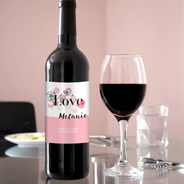 Hampers and Gifts to the UK - Send the Personalised Love Wine