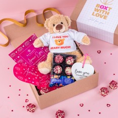 Hampers and Gifts to the UK - Send the I Love You Beary Much Teddy Bear