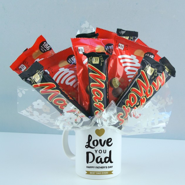 Hampers and Gifts to the UK - Send the Love You Dad Malteser & Mars Mug Bouquet