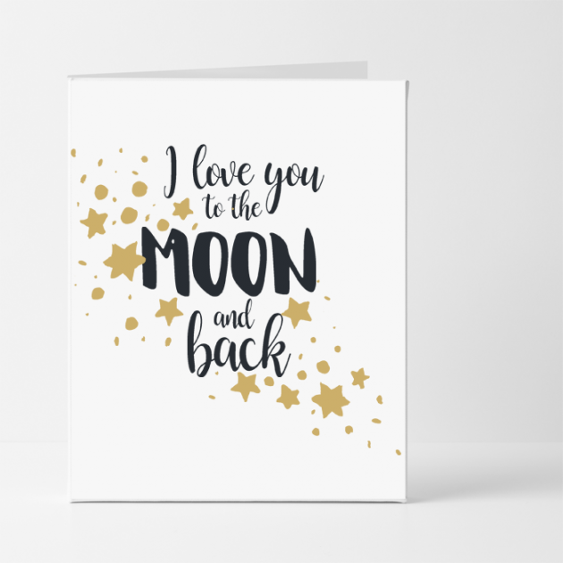 Hampers and Gifts to the UK - Send the Love You to The Moon and Back Card