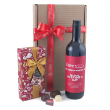 I Love You Valentine's Day Wine Gift Personalised