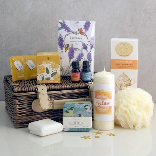Hampers and Gifts to the UK - Send the Relax Your Senses Aromatherapy Gift Basket