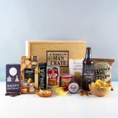 Hampers and Gifts to the UK - Send the Personalised Birthday Man Crate