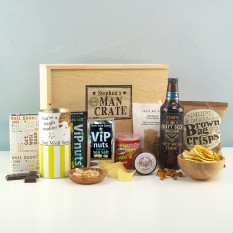 Hampers and Gifts to the UK - Send the Personalised Get Well Soon Man Crate