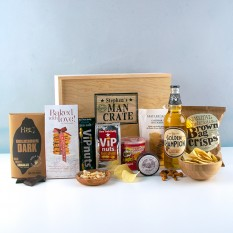 Hampers and Gifts to the UK - Send the Personalised With Love Man Crate
