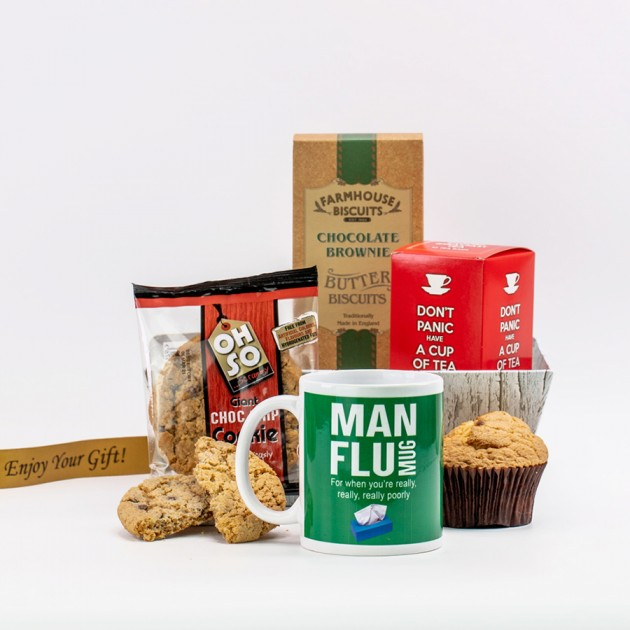 Hampers and Gifts to the UK - Send the Get Well Gift for Him - Man Flu Cookies