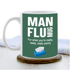 Hampers and Gifts to the UK - Send the Man Flu China Mug