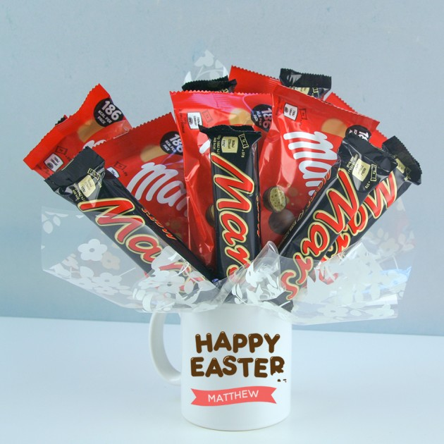 Hampers and Gifts to the UK - Send the Personalised Happy Easter Mars Malteser Combo