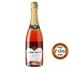 Hampers and Gifts to the UK - Send the Marques De La Sardana Cava Rosado Brut - 75cl