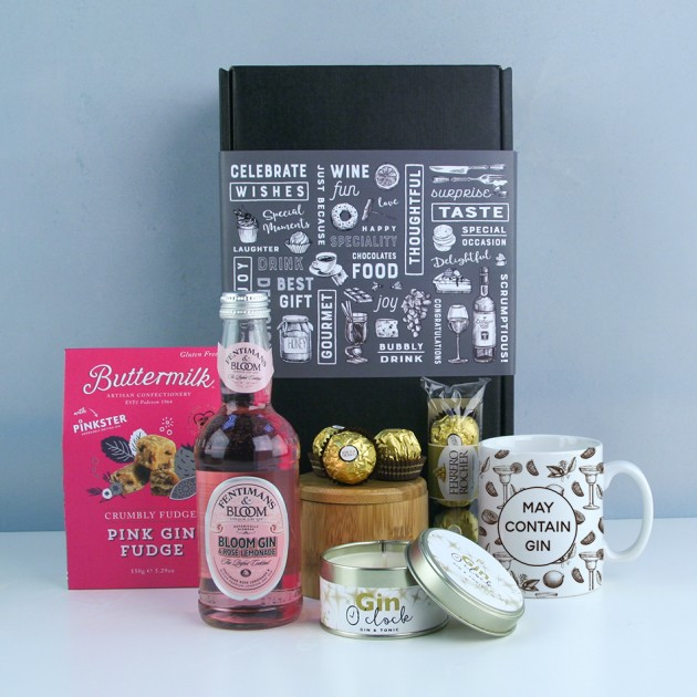 Hampers and Gifts to the UK - Send the Think Pink Gin O'Clock Hamper