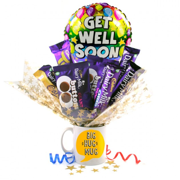 Hampers and Gifts to the UK - Send the Big Hug Dairy Milk Bouquet In A Mug