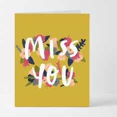 Hampers and Gifts to the UK - Send the Miss You Floral Card