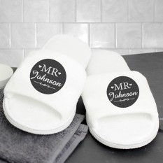 Hampers and Gifts to the UK - Send the Personalised Mr Velour Slippers