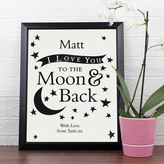 Hampers and Gifts to the UK - Send the To the Moon and Back Framed Poster