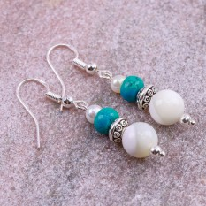 Hampers and Gifts to the UK - Send the Mother of Pearl Boho Drop Earrings