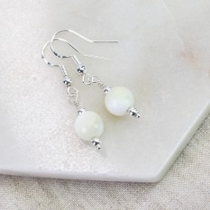 Hampers and Gifts to the UK - Send the Mother of Pearl Drop Earrings