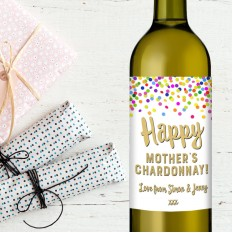 Hampers and Gifts to the UK - Send the Happy Mother's Chardonnay Wine Gift