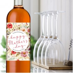Hampers and Gifts to the UK - Send the Happy Mother's Day Floral Wine Gift