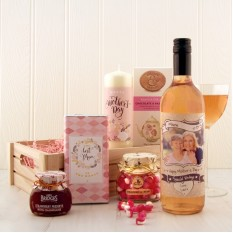 Hampers and Gifts to the UK - Send the Mother's Day Personalised Wine and Sweet Treats