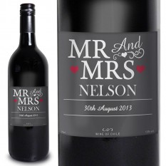 Hampers and Gifts to the UK - Send the Mr and Mrs Red Wine