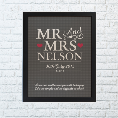 Hampers and Gifts to the UK - Send the Mr and Mrs Framed Print