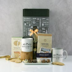 Hampers and Gifts to the UK - Send the Mr and Mrs Personalised Mugs Hamper